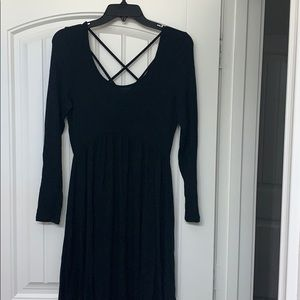 Black strappy back dress